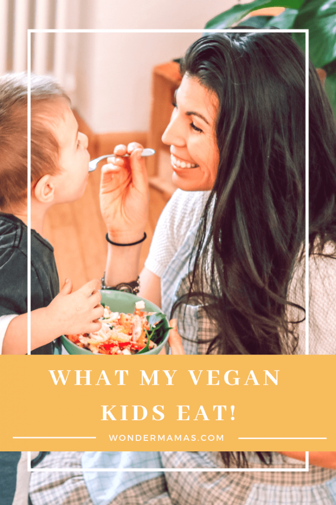 vegan kid eating