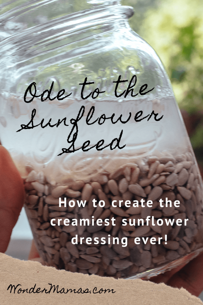 The creamiest and most delicious sunflower dressing