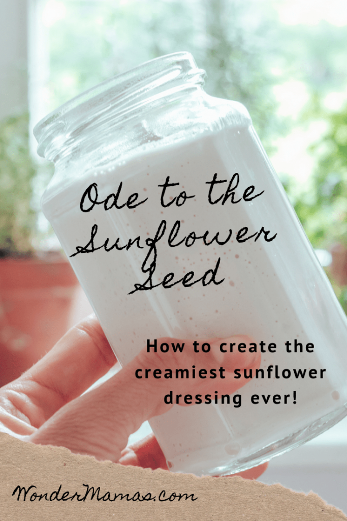 The Creamiest Sunflower Seed Dressing in a mason jar