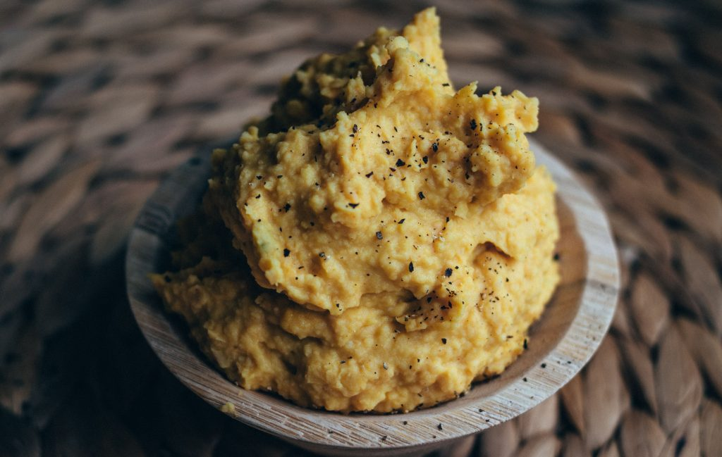 two bean turmeric hummus