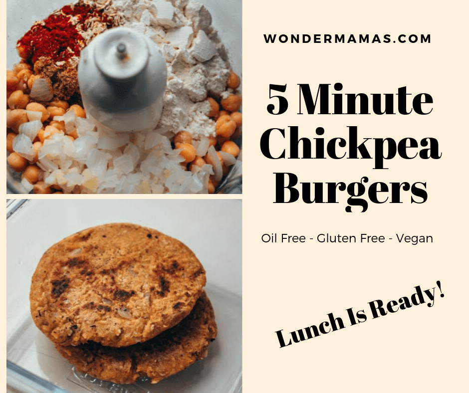 5 Minute Chickpea Burgers