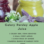 Celery Parsley Apple Juice