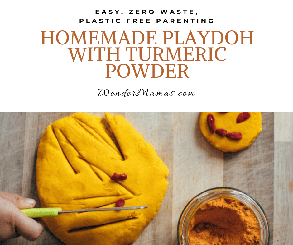homemade turmeric Playdoh