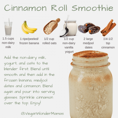 vegan cinnamon roll smoothie