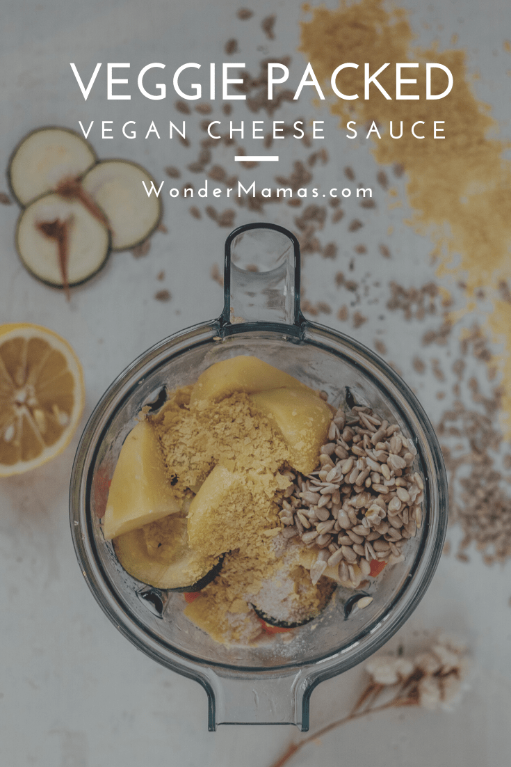 Vegan Cheese Sauce with Vegetables