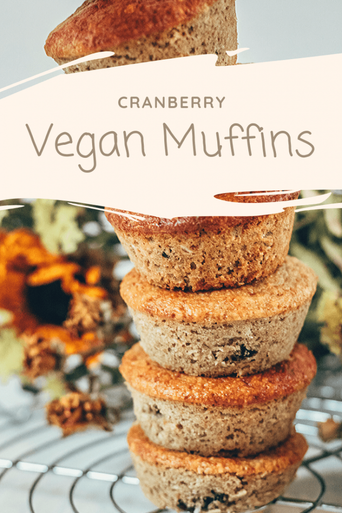 Moist Vegan Cranberry Muffins