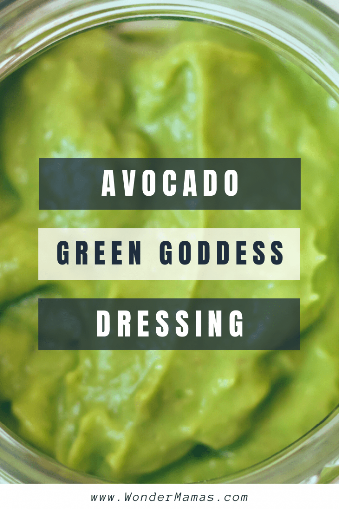 Vegan avocado green goddess dressing