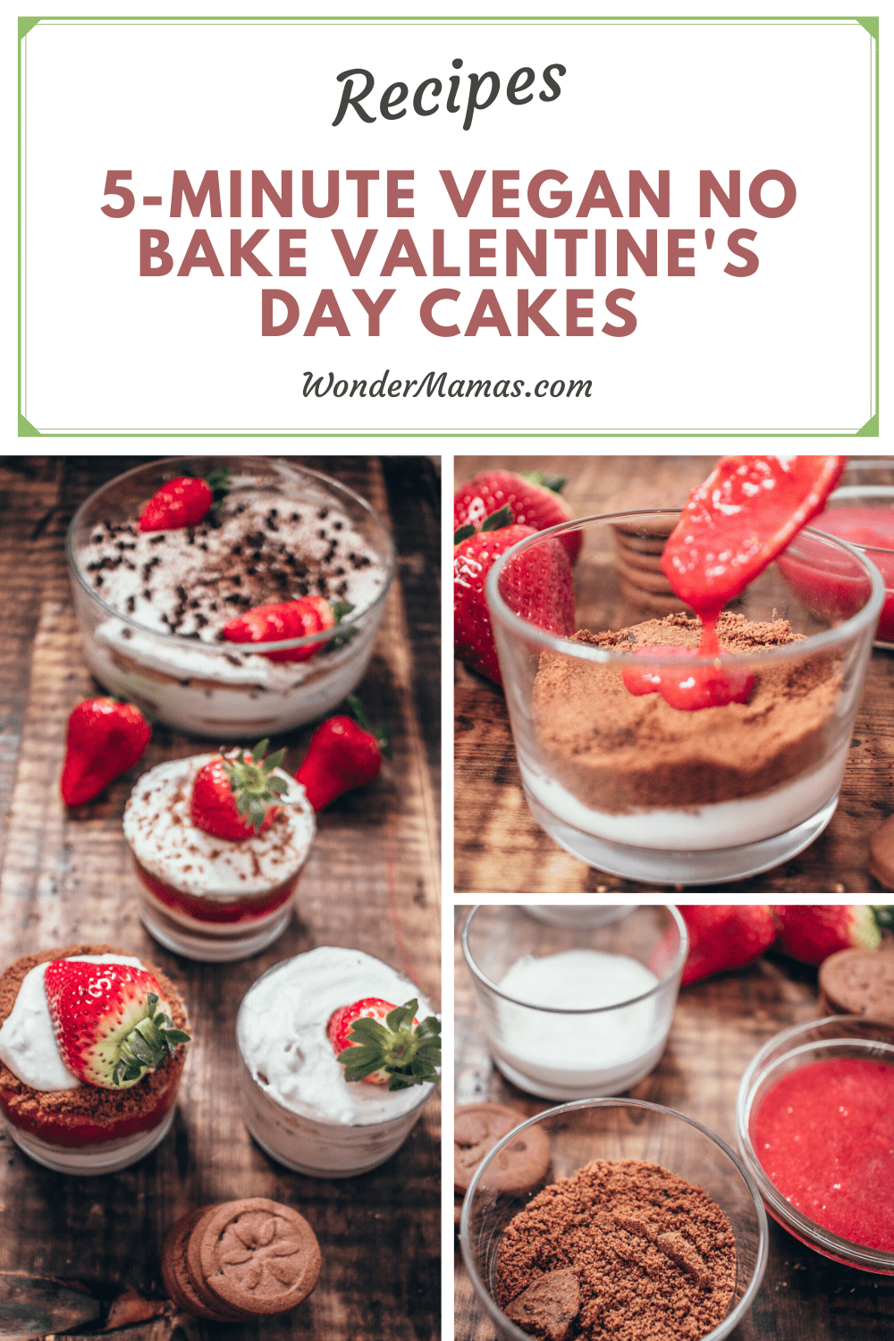 5-Minute Vegan Valentine's Day Cake