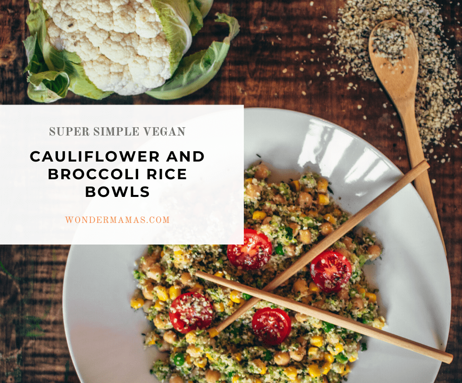 cauliflower and broccoli stir fry rice