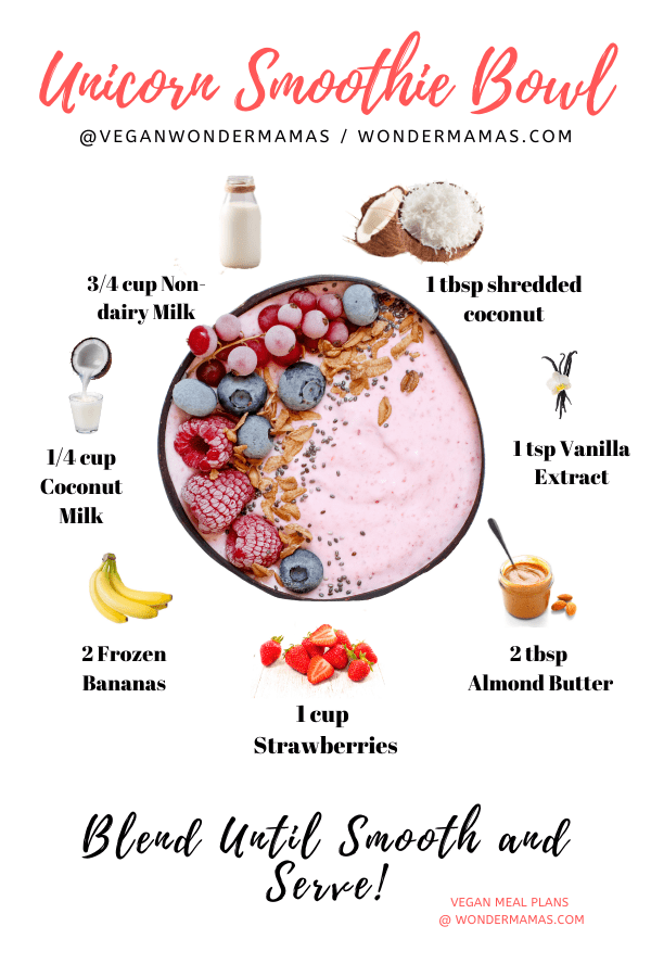 Vegan Unicorn Smoothie Bowl